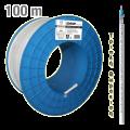 Ομοαξονικό καλώδιο τριπλής θωράκισης EDISION 110db, εξωτερικός μανδύας διαμ. 6.9mm λευκό PVC (Προσφέρεται σε καρούλι των 100m)