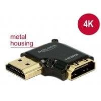 DELOCK HDMI Αντάπτορας HDMI-A Θηλυκό σε Αρσενικό High Speed 90° left