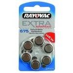 Μπαταρίες Ακουστικών βαρηκοΐας mercury free 1,45V 6τμχ RAYOVAC 675MF