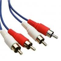 Powertech Καλώδιο 2 x RCA Αρσενικό / 2 x RCA Αρσενικό (red,white) - 1.5m CAB-R001