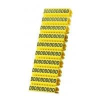 Clip αρίθμησης καλωδίου γράμμα D Yellow 10τεμ.POWERTECH CLIP-016