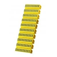 Clip αρίθμησης καλωδίου γράμμα E Yellow 10τεμ. POWERTECH CLIP-017