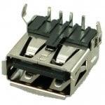 Αντάπτορας USB 2.0 A TYPE up Solder up Silver/Black CON-U021