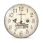 Ρολόι τοίχου Lausanne EHC018L 30cm λευκό ESPERANZA EHC018L