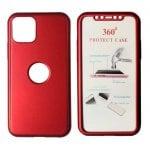 Θήκη Body 360° με Tempered Glass για iPhone 11 κόκκινη Powertech MOB-1416