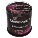 CD-R 52x 700MB/80min Cake 100τμχ MediaRange MR204