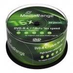 DVD-R 4,7 GB 16x Cake50 MediaRange MR444