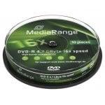DVD-R 4,7 GB 16X Cake10 MediaRange MR452