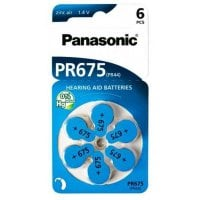 Μπαταρίες ακουστικών βαρηκοΐας PR675 free 1.4V 6τμχ PANASONIC PR675