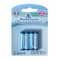 Αλκαλικές μπαταρίες AAA LR03 4 τεμ Powertech PT-157