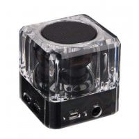 Bluetooth Speaker Portable 3W Led Light σε μαύρο χρώμα POWERTECH PT-404