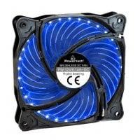 LED ανεμιστήρας 120mm 3pin/molex & 4 βίδες μπλε Powertech PT-907