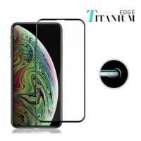 Tempered Glass 3D για iPhone XS Max titanium μαύρο Powertech TGC-0136