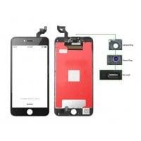 High Copy LCD iPhone 6S Plus Camera-Sensor ring ear mesh μαύρο TIANMA TLCD-033
