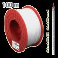 Ομοαξονικό καλώδιο τετραπλής θωράκισης EDISION 120db, εξωτερικός μανδύας διαμ. 6.9mm λευκό PVC (Προσφέρεται σε καρούλι των 100)