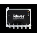 Μετατροπέας Δορυφορικού και Επίγειου τηλεοπτικού σήματος απο οπτική ίνα σε 4 τερματικές εξόδους RF με QUAD SAT IF και DTT σήμα TELEVES 236903