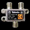 Μεταλλικό TAP OFF TELEVES 1 εξόδου με F TELEVES 12-19-0007