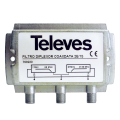 Φίλτρο diplexer για μίξη ομοαξονικού απο σύστημα Televes CoaxData μαζί με ομοαξονικό με RF.TELEVES 12-29-0007