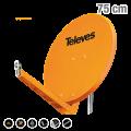 ΚΑΤΟΠΤΡΟ QSD 75 ALU πορτοκαλί 7902 TELEVES 12-07-0101