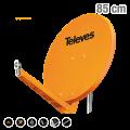 ΚΑΤΟΠΤΡΟ QSD 85 ALU πορτοκαλί 7903 TELEVES 12-07-0102