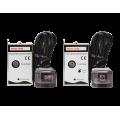 ΣΕΤ πομπού & δέκτη για μεταφορά IR προς συσκευές όπως δορυφορικούς δέκτες μέσω του ομοαξονικού καλωδίου TELEVES87163