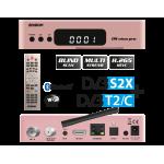 Δορυφορικός δέκτης EDISION E2 LINUX combo Full HD OS NINO PRO DVB-S2X + DVB-T2/C με υποστήριξη H.265/HEVC Rose Gold