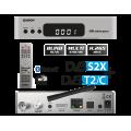 Δορυφορικός δέκτης EDISION E2 LINUX combo Full HD OS NINO PRO DVB-S2X + DVB-T2/C με υποστήριξη H.265/HEVC Silver