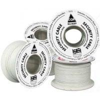 Καλώδιο συναγερμού 4 x 0.22mm με πρόσμιξη αλουμινίου και χαλκού σε λευκο χρωμα (Συσκευασία των 100m.) CQR ECO-CCA4
