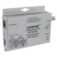Συσκευή μετάδοσης Ethernet μέσω διπλού συνεστραμμένου καλωδίου (UTP) ή μέσω ομοαξονικού καλωδίου (RG-59) με μέγιστο όγκο δεδομένων τα 90Mbps COMNET CNFE1EOC-M