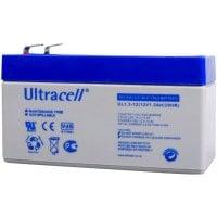 Τιμή (5.18€ +ΦΠΑ) Μπαταρία μολύβδου ULTRACELL 12V 1.3AH
