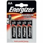 Αλκαλικές μπαταρίες Εnergizer AA-LR6 Alkaline Power 4τμχ ENERGIZER AA-LR6-4TEM