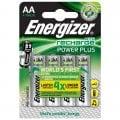 Επαναφορτιζόμενη μπαταρία Εnergizer ΑΑ-HR6 Power Plus, σε blister 4 τεμαχίων ENERGIZER AA-HR6/2000mAh/4TEM F016480