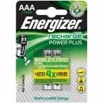 Επαναφορτιζόμενη μπαταρία Εnergizer AAA-HR03 Power Plus 2τμχ ENERGIZER AAA-HR03-700mAh-2TEM