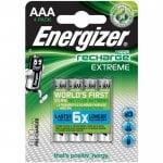 Επαναφορτιζόμενη μπαταρία Εnergizer AAA-HR03 Extreme 4τμχ ENERGIZER AAA-HR03-800mAh-4TEM