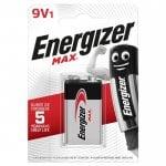 Αλκαλική μπαταρία Εnergizer MAX 9V-9B-6LR61 1τμχ ENERGIZER 9V-9B-6LR61