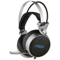 Gaming headset με retractable μικρόφωνο σε gunmetal grey χρώμα και μπλε LED φωτισμό. NOD NOD G-HDS-003